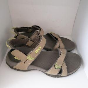 TEVA Stone Color Adjustable Strap Athletic Sandals
